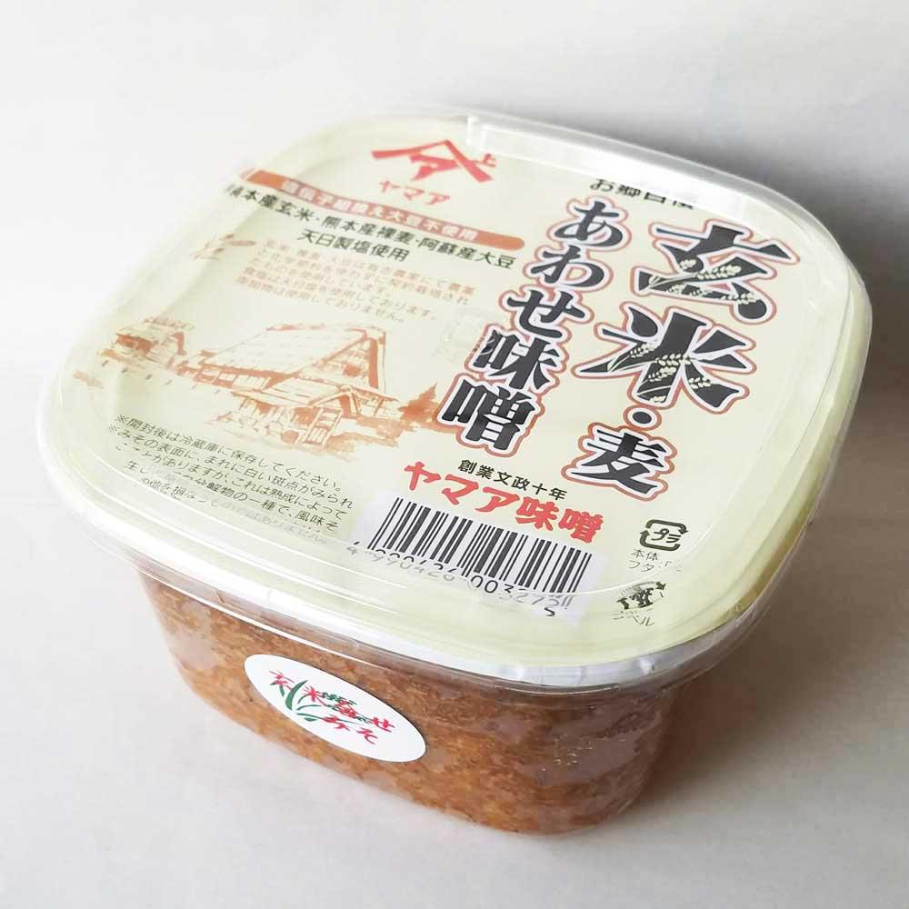 無添加 玄米・麦あわせ味噌 1P(750g)